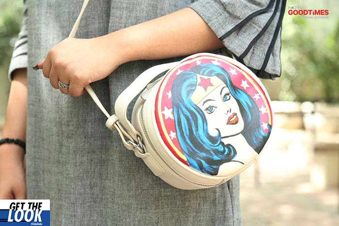 Wonderwoman bag designed by Al artz suits your Summer accessorizing needs