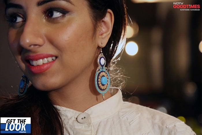 Astha wearing Olivia Dar earrings