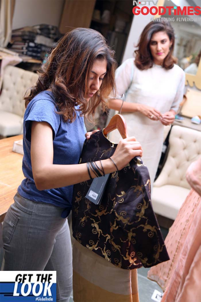 Diksha going to change into her stunning outfit, handpicked by experts
