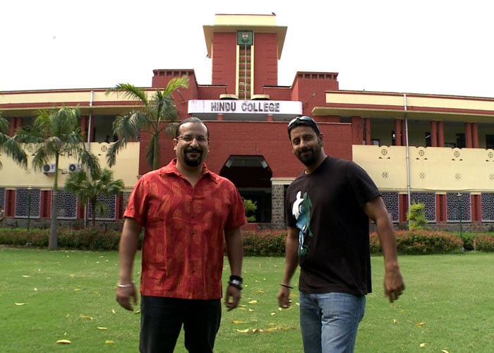 Rocky, Mayur visit Hindu College, Delhi