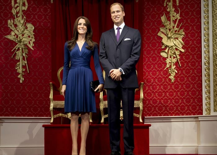 Will-Kate in the flesh? No, in wax
