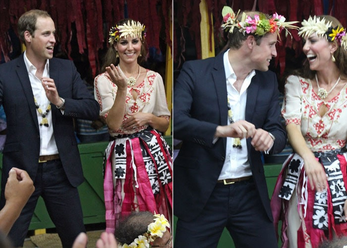 Tribal dance: Will and Kate