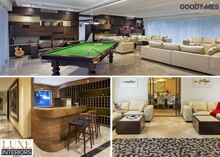 If you have a huge living room, you divide it into three segments, just like Purple Ink Studio has done with the opulent King's House. There is a pool table, a bar, and a semi-formal seating arrangement clubbed together in one space.