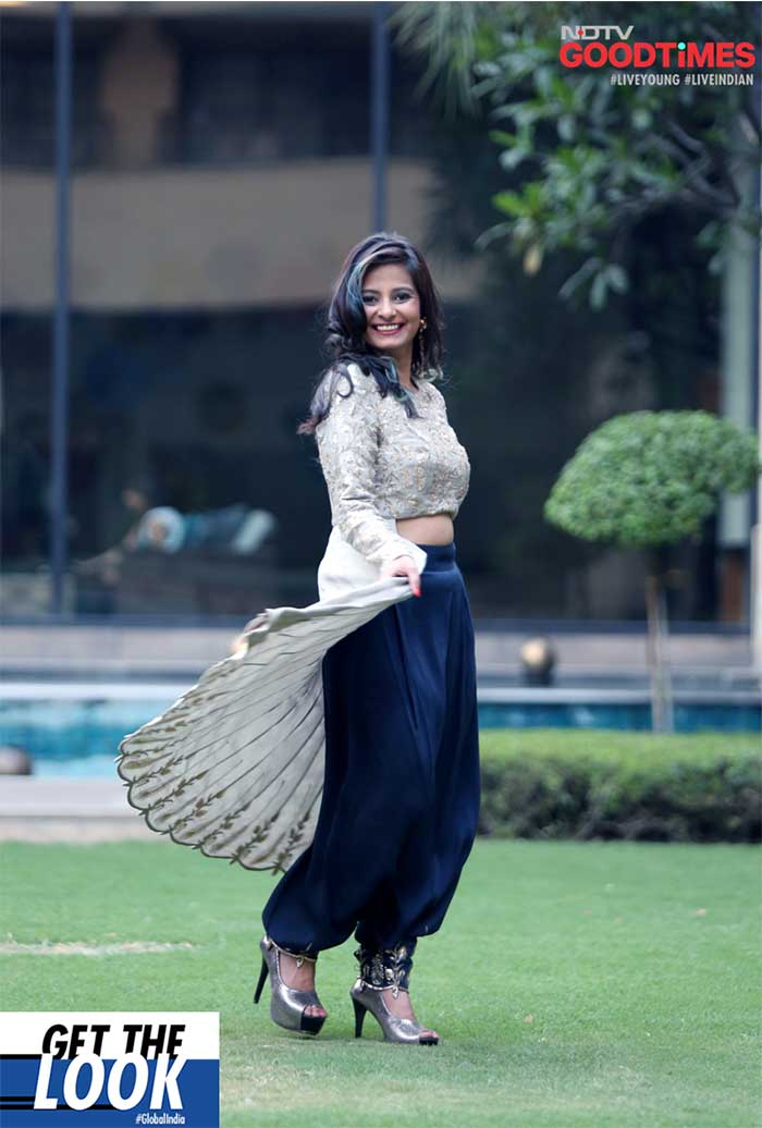 Srishti twirling in her new look designed by Payal Singhal