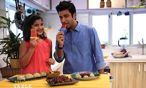 My Yellow Table: Chef Kunal Kapur Makes Fruit Lollies for His Little Guest