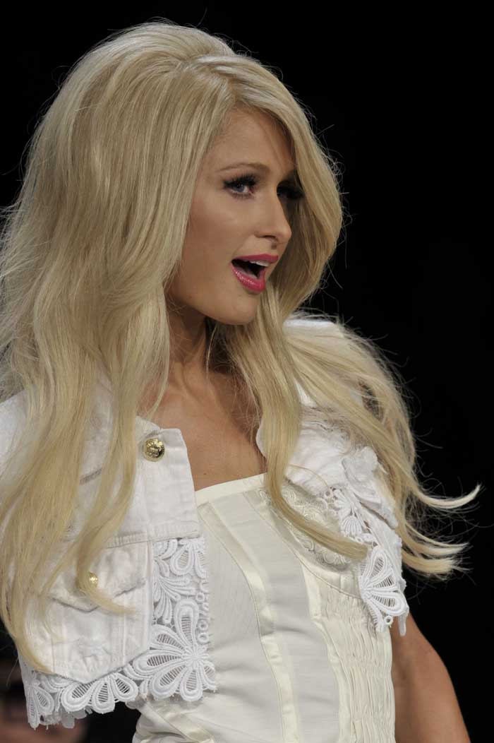 Paris Hilton at the Sao Paulo Fashion Week, 2010.
