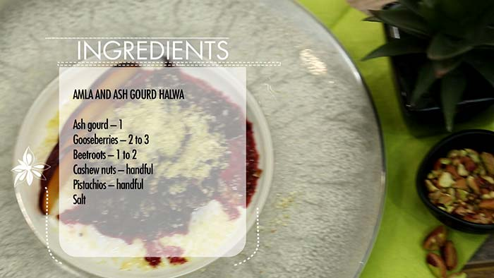 How To Make Vicky Ratnani's Healthy Ash Gourd, Beetroot and Plum Halwa