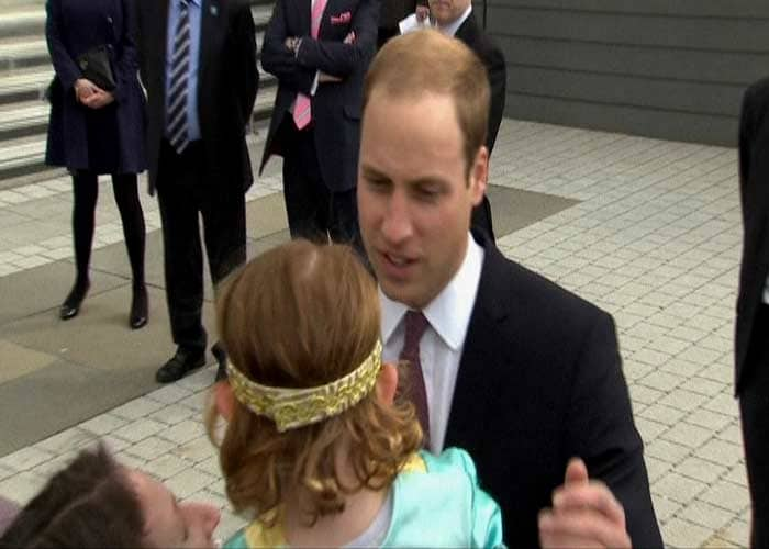 This little Miss says no to kiss from Prince William