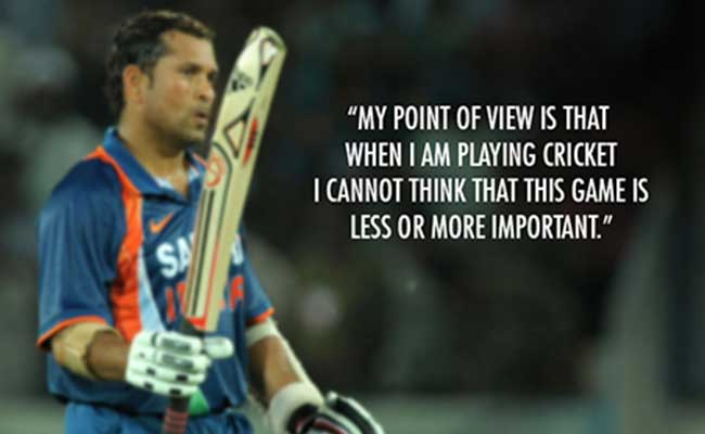 Sachin is often referred to as the God of Cricket