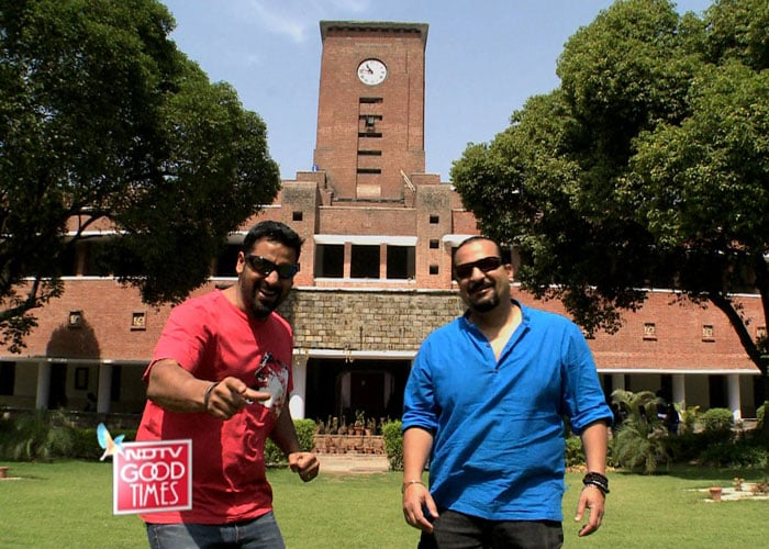 Rocky and Mayur visit Sri Ram College of Commerce, Delhi