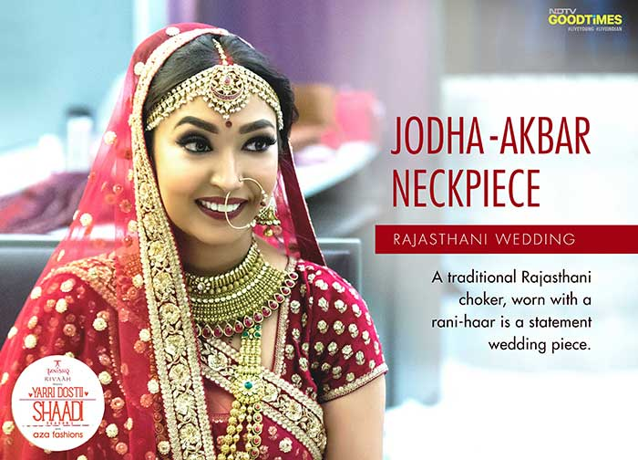 Our Rajasthani bride Janhavi donned this gorgeous statement piece by Tanishq for her wedding