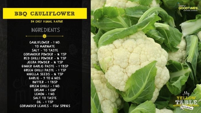 My Yellow Table: Recipes of BBQ Cauliflower and Pulao