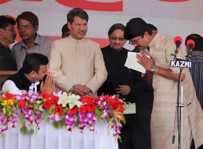 Akhilesh Yadav sworn in as UP Chief Minister