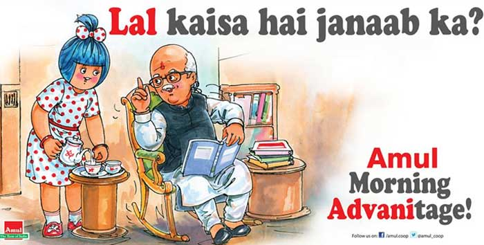 Amul\'s humorous take on LK Advani\'s public sulk at Narendra Modi\'s elevation