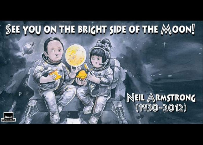 Amul says goodbye to Neil Armstrong