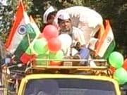 Photo : Anna draws support across India