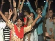 Photo : India celebrates victory over corruption