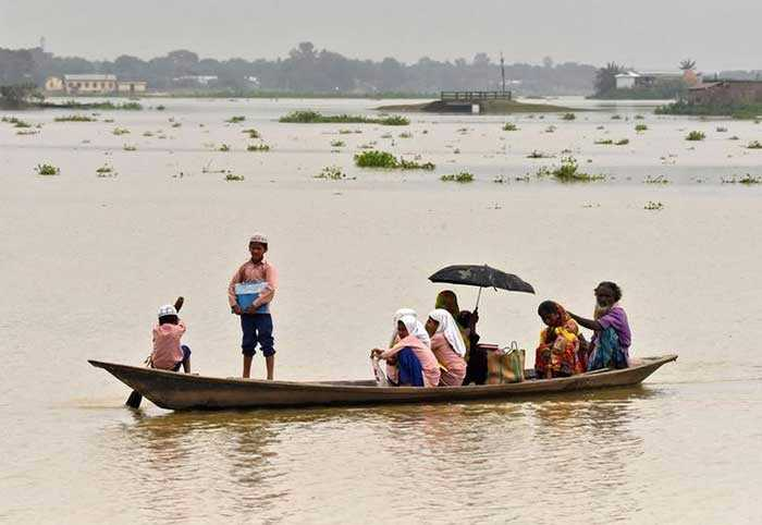 Pics: Floods Cause Havoc In Assam, Thousands Evacuated
