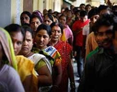 Photo : Phase 1 polling ends, 72.5% turnout in Assam