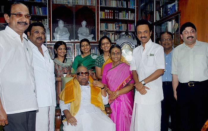 The Karunanidhi family. Image: PTI
