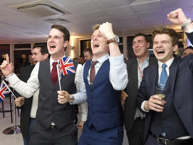 Brexit Supporters Celebrate Result As Britain Splits From European Union