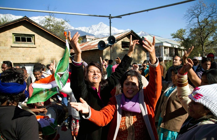 Congress celebrates in Himachal Pradesh