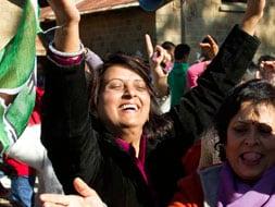 Photo : Congress celebrates in Himachal Pradesh