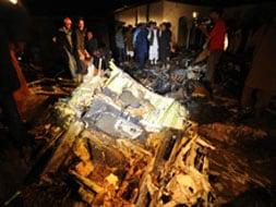 Photo : First Pics: Plane crashes near Islamabad airport, 127 feared killed