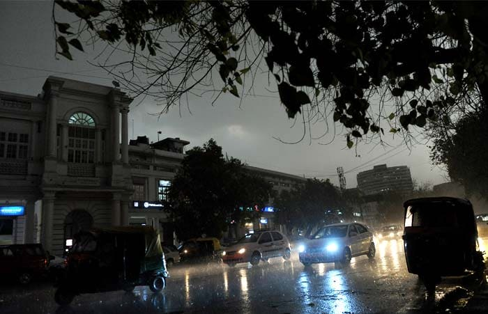 Traffic Jams In Delhi After Massive Storm Photo Gallery