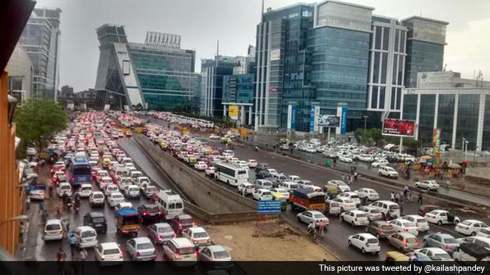Traffic Comes to a Halt, After Heavy Rainfall in National ...