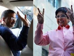 Photo : Delhi Votes: Arvind Kejriwal, Kiran Bedi at Polling Booths