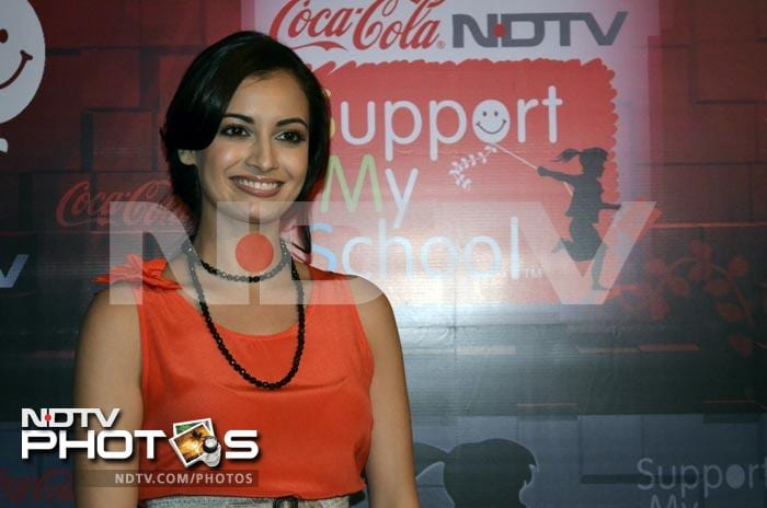 NDTV Support My School Campaign: Bubbly Dia lights up telethon