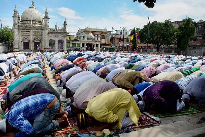 As the month of Ramzan ends, Muslims gather in Agartala to celebrate Eid and pray.