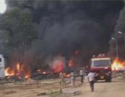 Photo : Major fire in chemical factory in Andhra Pradesh