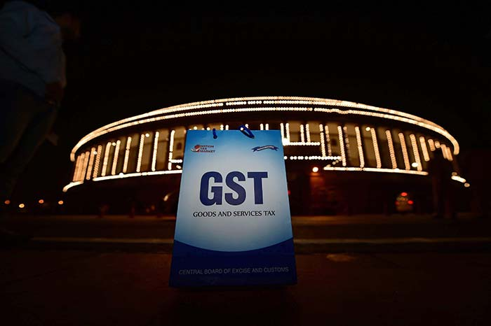 The launch event of the Goods and Services Tax (GST) was held at the Central Hall of Parliament.