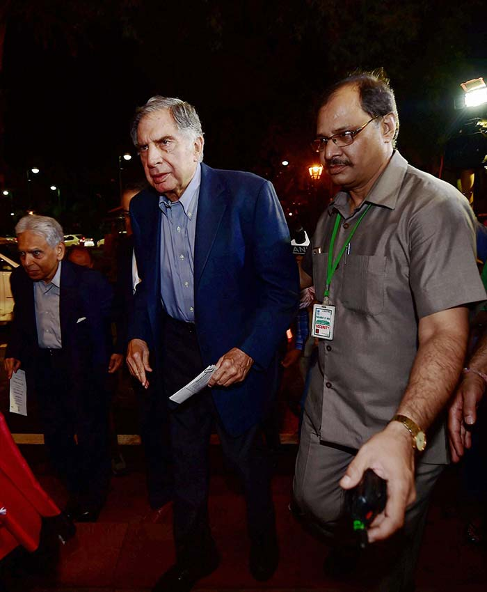 Industrialist Ratan Tata also attended the GST launch event at the Parliament.