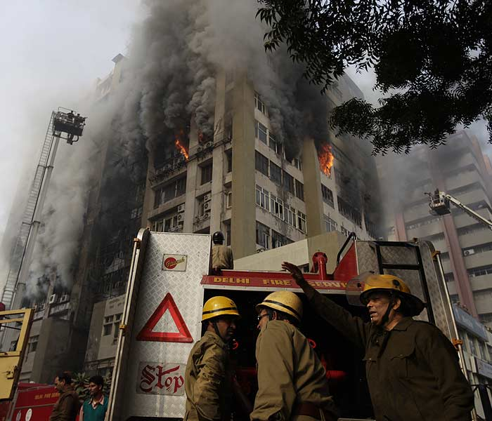 One killed in Himalaya House fire in Central Delhi
