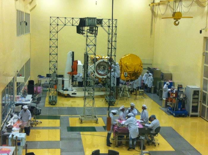 The Indian Space Research Organisation or ISRO plans to launch a Nano car-sized unmanned satellite that will orbit Mars and study the planet's thin atmosphere.  Photo courtesy: Pallava Bagla
