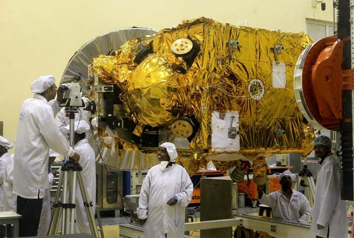 The satellite, named Mangalyaan, will carry five scientific instruments which will hunt the Mars atmosphere for traces of water and Methane which could indicate if life exists there.