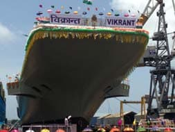 Photo : INS Vikrant, India's first indigenous aircraft carrier, launched
