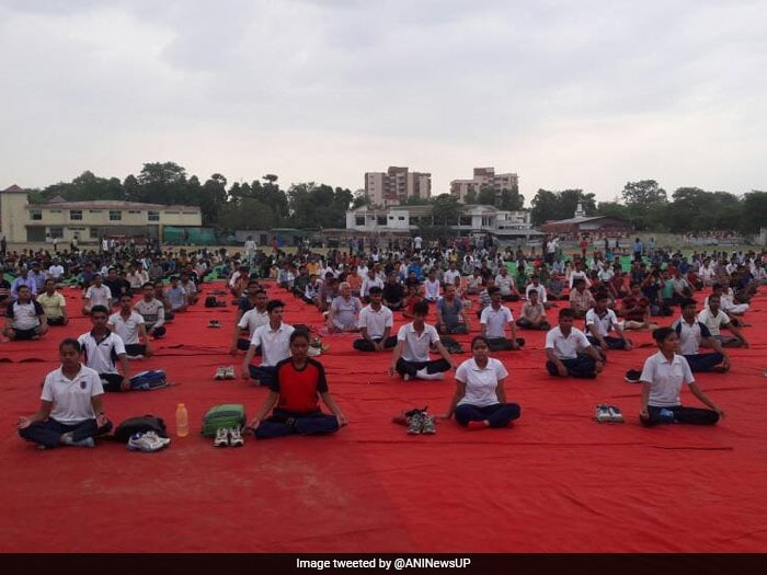 World Yoga Day 2017: People perform in Allahabad's KP College