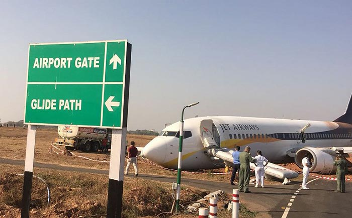 Jet Airways Flight Veers Off Runway At Goa Airport