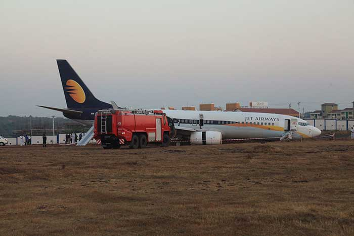 Jet Airways Flight Takes 360 Degrees At Goa Airport Runway
