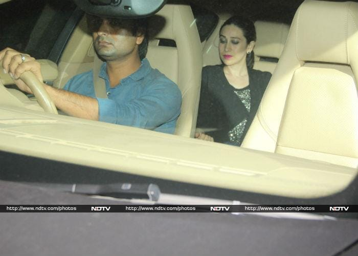 Actress Karisma Kapoor was spotted with rumoured boyfriend Sandeep Toshniwala in Mumbai Bandra's on Sunday evening.