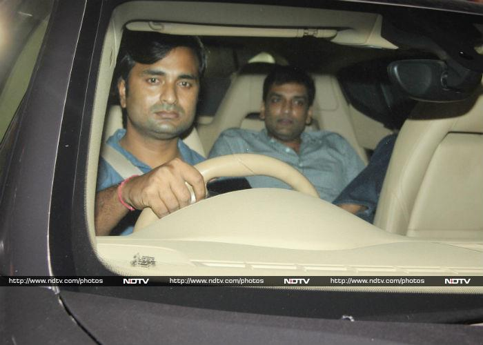 Sandeep, who was casually dressed in denims and shirt, accompanied Karisma in the same car.
