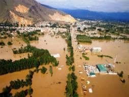 Photo : Aerial View of Srinagar Submerged Under Massive Floods