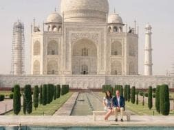Photo : Willam and Kate, British Royalty At The Taj Mahal In Agra