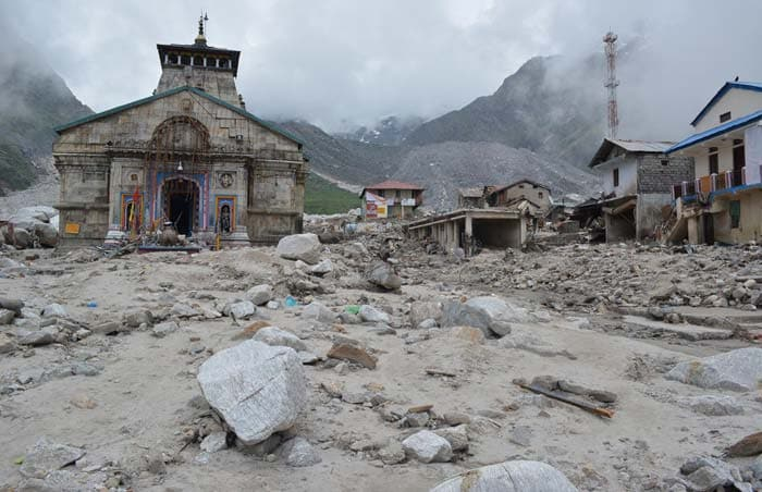 In and around Kedarnath temple today