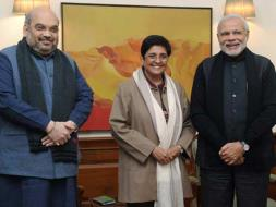 Photo : Kiran Bedi Joins BJP, Followed by Former AAP Leaders Shazia Ilmi and Vinod Kumar Binny
