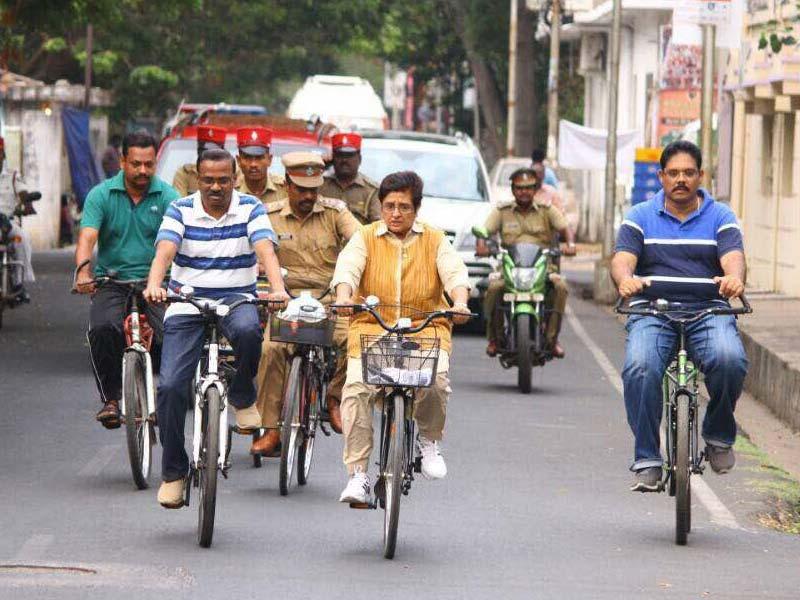 Use Bicycles To Monitor Cleanliness And Implementation Of Swachh Projects: Kiran Bedi To Local Officials